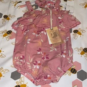Jessica Simpson Baby Girl Floral Outfit!